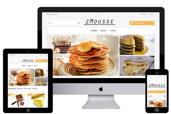 zMousse free prestashop theme