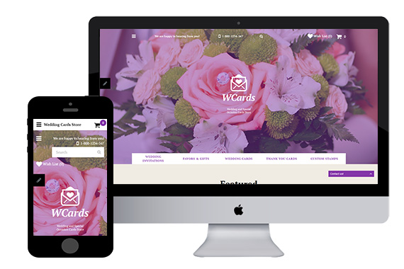 Wcard Weddding Free Opencart Themes