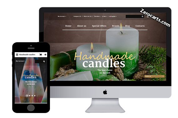 Candles Free Opencart Template