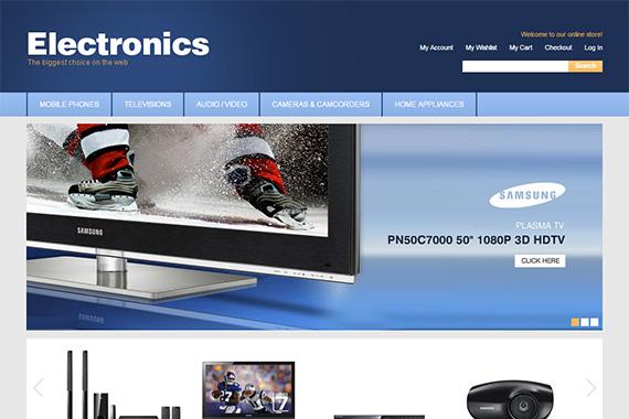 Electronics free magento template