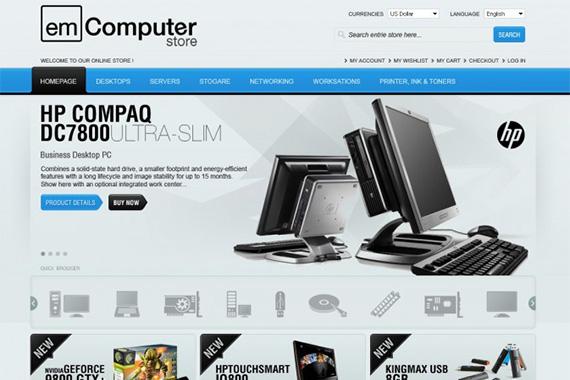 Em Computer - Free Magento Theme