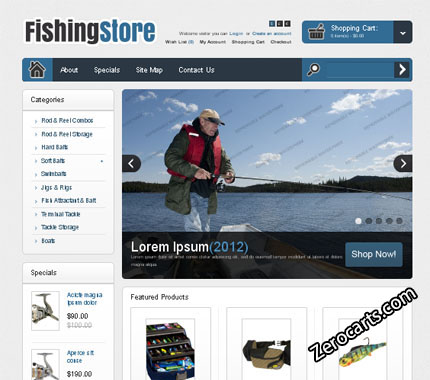 FishingStore Free Opencart Template
