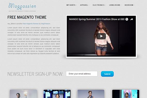 Magpassion - Free Magento Theme
