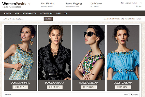 PA Fashion free magento theme