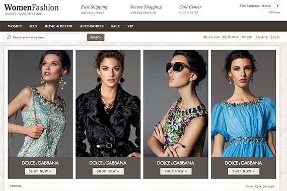 PA Fashion free magento theme