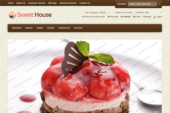 Sweet House Free Magento Theme