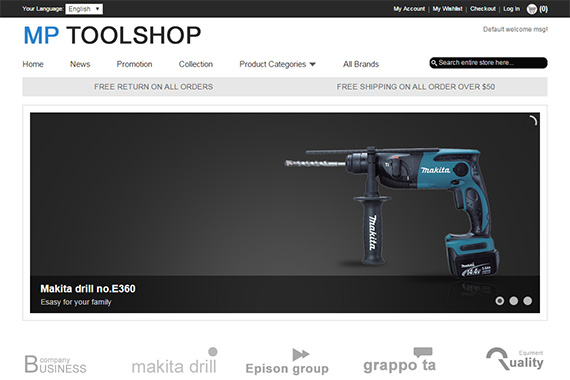 ToolShop free magento template