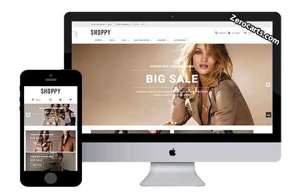 Ves Shoppy Free Magento Theme