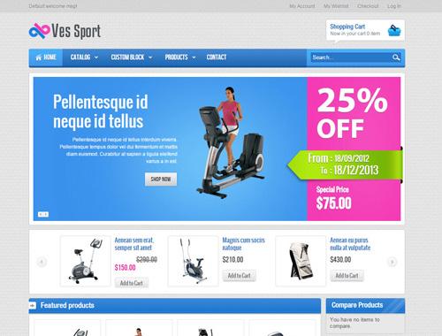 Ves Sport - Free Magento Theme