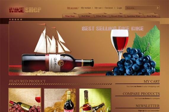 Wine free magento theme