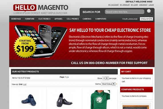 Hello - Free Mageno Theme