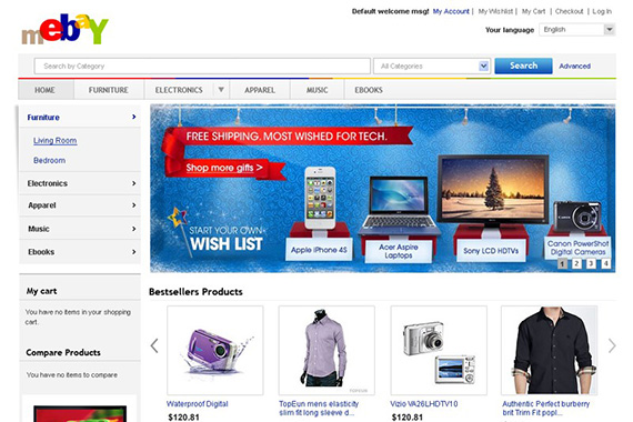 mEbay - Free Magento Theme