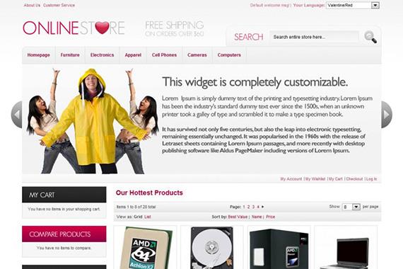 onlinestore free magento theme