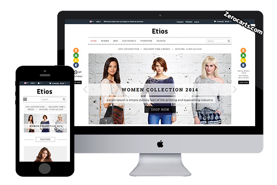 Etios Free Opencart Template
