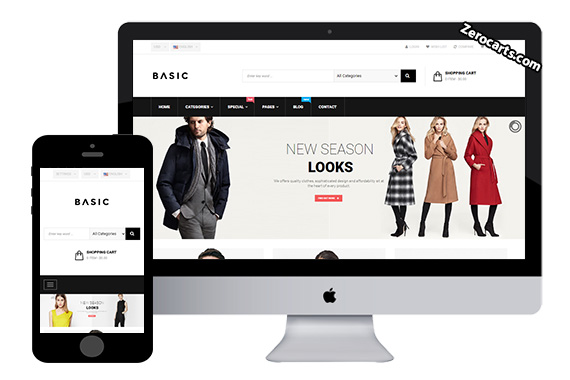 PTS Basic Free Fashion Prestashop Theme