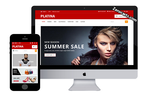 Platina free fashion opencart theme